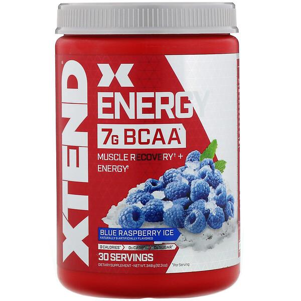 Xtend Energy BCAA, 7г аминокислот с разветвленной цепью, лед из голубой малины, 348г (12,3унции)