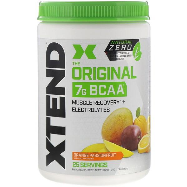 The Original, Natural Zero, 7г аминокислот с разветвленной цепью (BCAA), со вкусом апельсина и маракуйи, 367,5г (13унций)