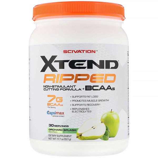 Xtend Ripped, 7G BCAAs, Orchard Splash, 17.7 oz (501 g)