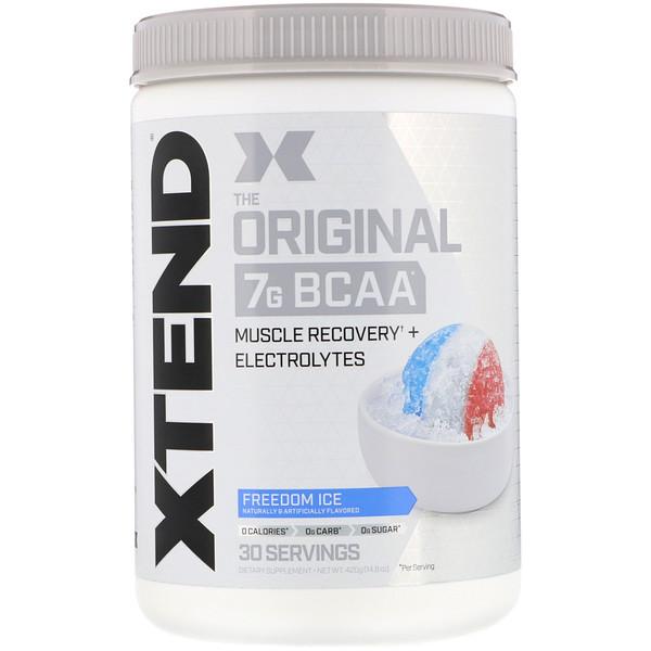 Xtend, The Original, 7г аминокислот с разветвленной цепью (BCAA), вкус Freedom Ice, 420г (14,8унции)