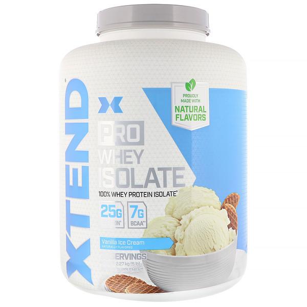 Xtend, Xtend Pro, сывороточный изолят, ванильное мороженое, 5 фунтов (2,27 кг)