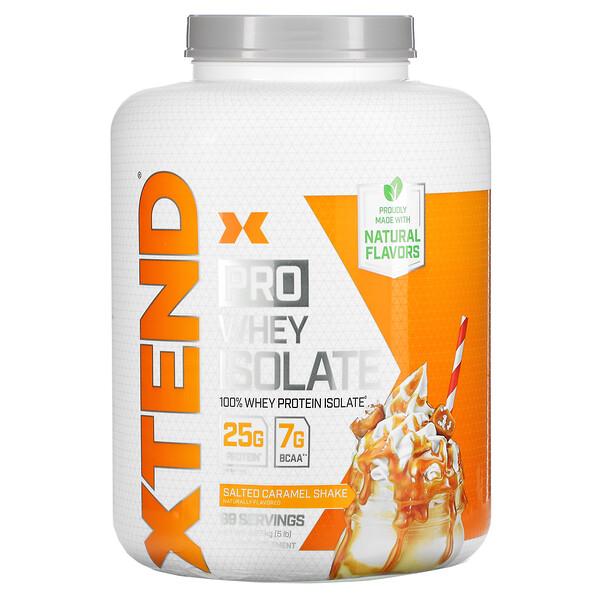 Xtend Pro, сывороточный изолят, соленый карамельный шейк, 5 фунтов (2,27 кг)