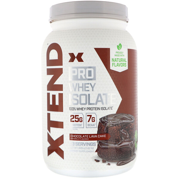 Xtend Pro, сывороточный изолят, со вкусом шоколадного пирожного, 826г (1,82фунта)