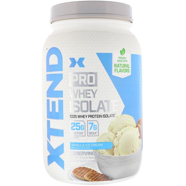 Xtend Pro, сывороточный изолят, ванильное мороженое, 1,78 фунта (810 г)
