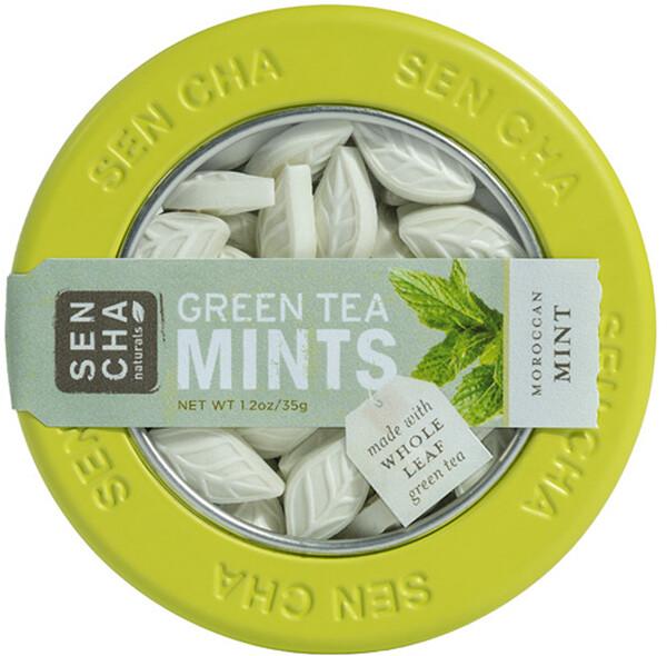 Мятные леденцы с зеленым чаем, марокканские мятные леденцы, 1,2 унции (35 г)