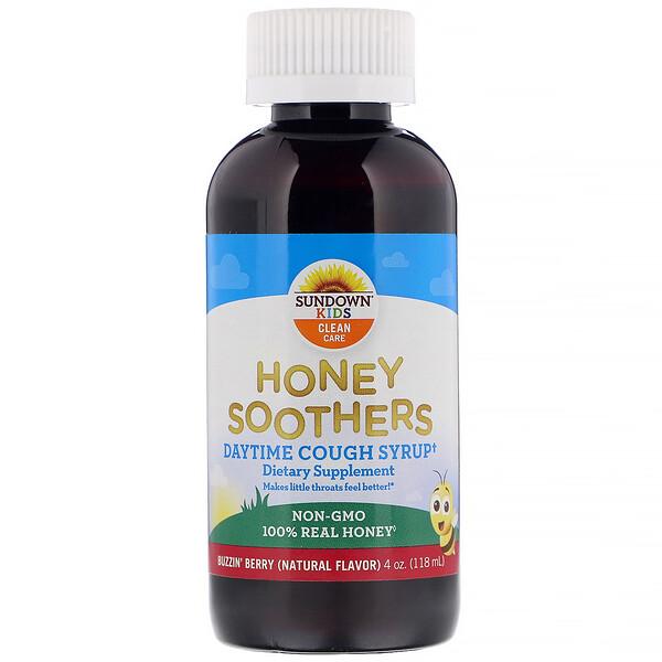 Honey Soothers, дневной сироп от кашля, ягодный вкус, 118 мл (4 унции)