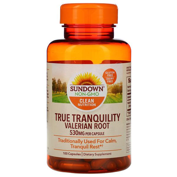 Sundown Naturals, True Tranquility, корень валерианы, 530 мг, 100 капсул