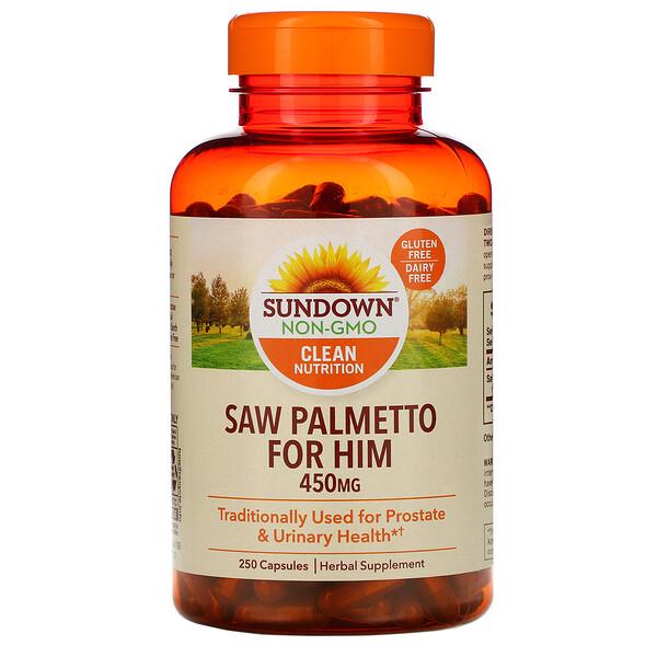 Цельное растение, пальма сереноа, 450 мг, 250 капсул
