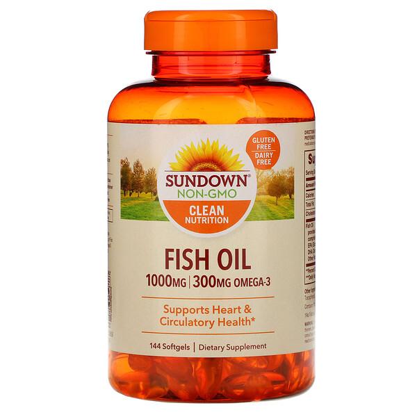 Рыбий жир, 1000 мг, 144 мягких таблеток