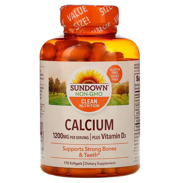 Кальций с витаминомD3, 1200мг, 170мягких таблеток