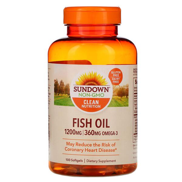 Рыбий жир, 1200мг, 100мягких таблеток