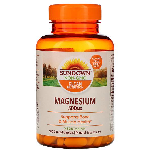 Магний, 500 мг, 180капсуловидных таблеток в оболочке