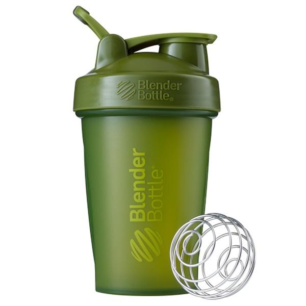 Blender Bottle, Блендерная бутылка BlenderBottle, классическая с петелькой, зеленый мох, 20 унций (Discontinued Item)