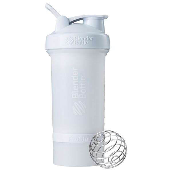 Бутылка-блендер BlenderBottle, ProStak, белая, 22 унции