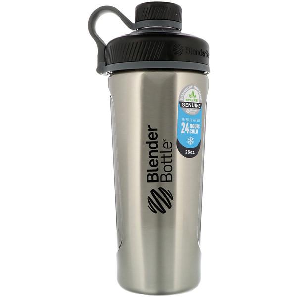 Blender Bottle Radian, Insulated Stainless Steel, Natural/Black , 26 oz