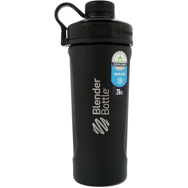 Blender Bottle Radian, нержавеющая сталь с теплозащитным покрытием, матовый черный, 26 унций