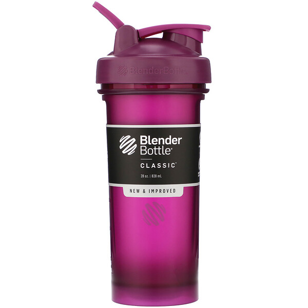 Blender Bottle, Classic With Loop, Plum, 28 oz (828 ml)