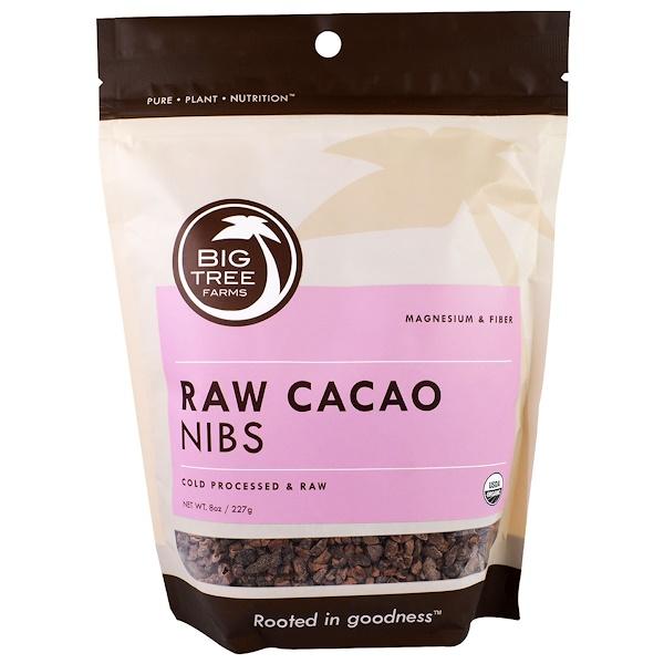 Big Tree Farms, Органические сырые дробленые какао-бобы, 8 унций (227 г) (Discontinued Item)