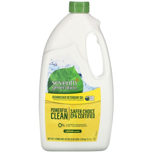 Dishwasher Detergent Gel, Lemon, 42 fl oz (1.19 kg)