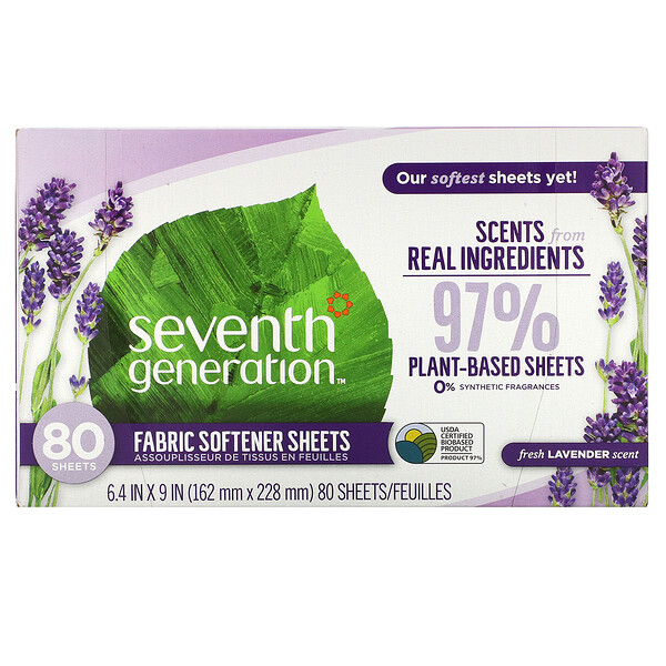 Fabric Softener Sheets, Fresh Lavender, 80 Sheets