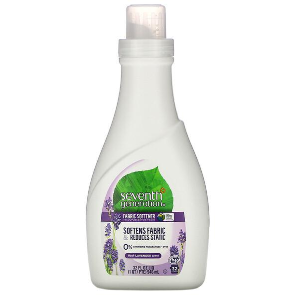 Seventh Generation, Fabric Softener,  Fresh Lavender, 32 fl oz (946 ml)