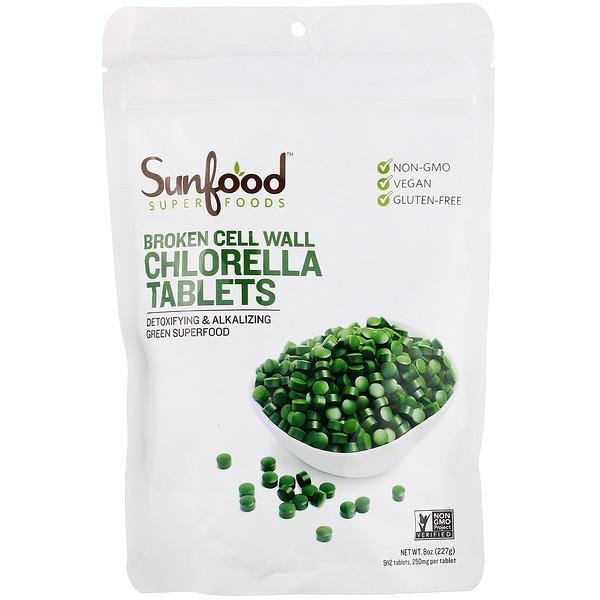 Хлорелла с разрушенной клеточной оболочкой в таблетках, 250мг, 912таблеток, 227г (8унций)