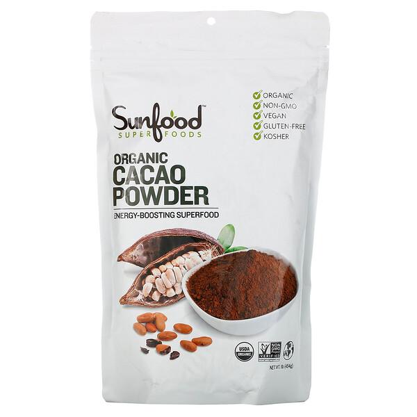 Органический какао-порошок, 454г (1фунт)
