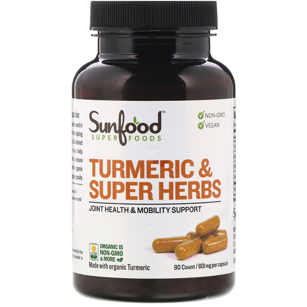 Turmeric & Super Herbs, 601 mg, 90 Count