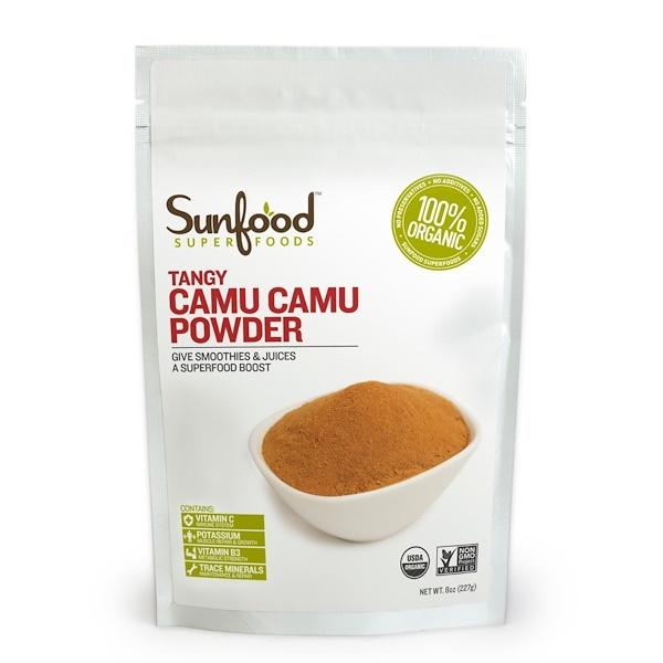 Sunfood, Органика, Порошок из ягод каму-каму с терпким вкусом, 8 унций (227 г) (Discontinued Item)