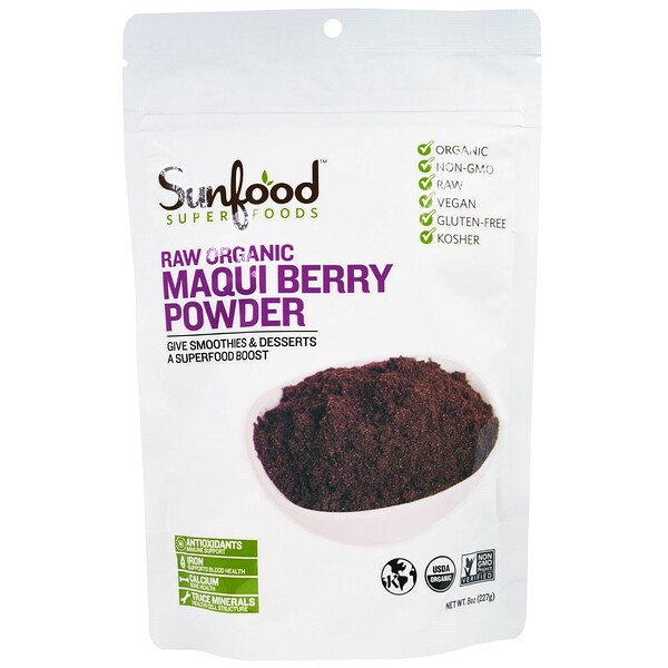Superfoods, Raw Organic Maqui Berry Powder, 8 oz (227 g)