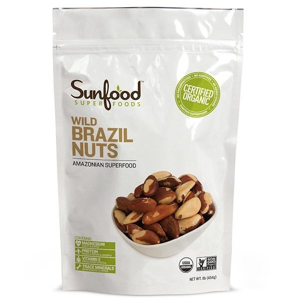 Sunfood, Дикий бразильский орех, 1 фунт (454 г) (Discontinued Item)