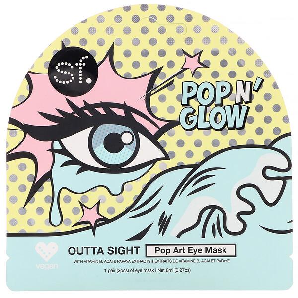 POP n' Glow, Outta Sight, Pop Art Eye Mask, 1 Eye Mask, 0.27 oz (8 ml)