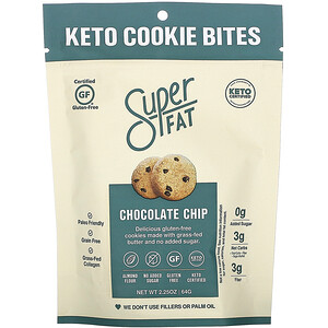 SuperFat, Keto Cookie Bites, Chocolate Chip, 2.25 oz (64 g)