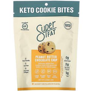 SuperFat, Keto Cookie Bites, Peanut Butter Chocolate Chip, 2.25 oz (64 g)