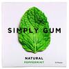 Simply Gum, Gum, Natural Peppermint, 15 Pieces