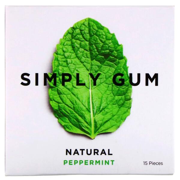 Gum, Natural Peppermint, 15 Pieces