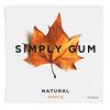 Simply Gum, Жевательная резинка, Натуральный клен, 15 штук