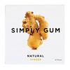 Simply Gum, Жевательная резинка, Натуральный имбирь, 15 штук