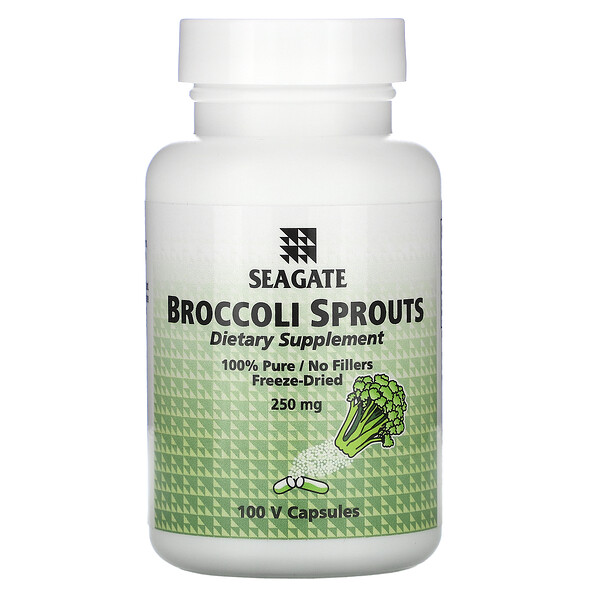 капуста брокколи, 250 мг, 100 растительных капсул