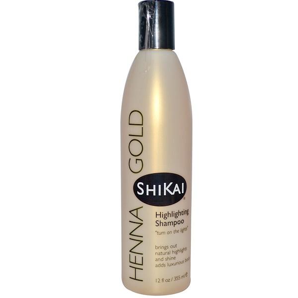 Shikai, Henna Gold, Шампунь для светлых волос, 12 жидких унций (355 мл) (Discontinued Item)