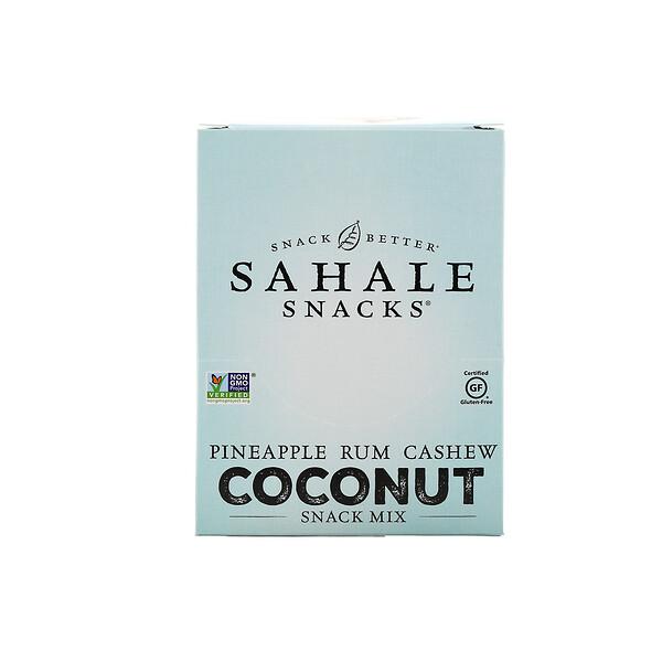 Sahale Snacks, Смесь снеков, ананас, ром, кешью и кокос, 7пакетиков по 42,5г (1,5унции)