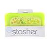 Stasher, Многоразовый силиконовый пищевой контейнер, для малых размеров, цвет лайма, 9,9 ж. унц. (293,5 мл)