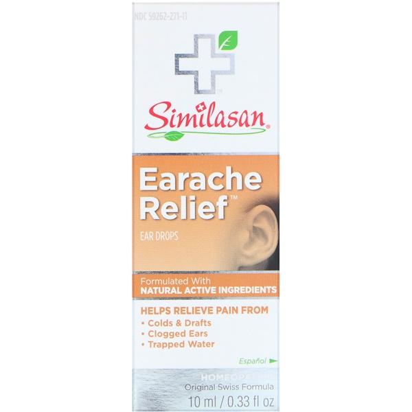 Similasan, Earache Relief, Ear Drops, 0.33 fl oz (10 ml) (Discontinued Item)