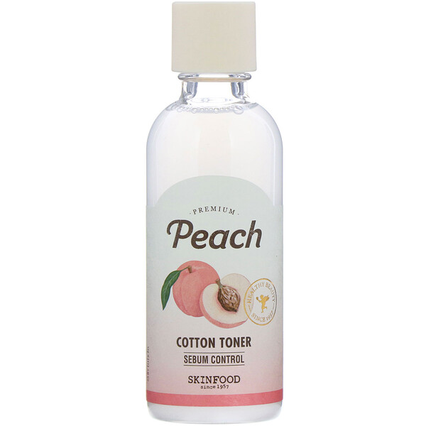 Premium Peach, Cotton Toner, 6.09 fl oz (180 ml)