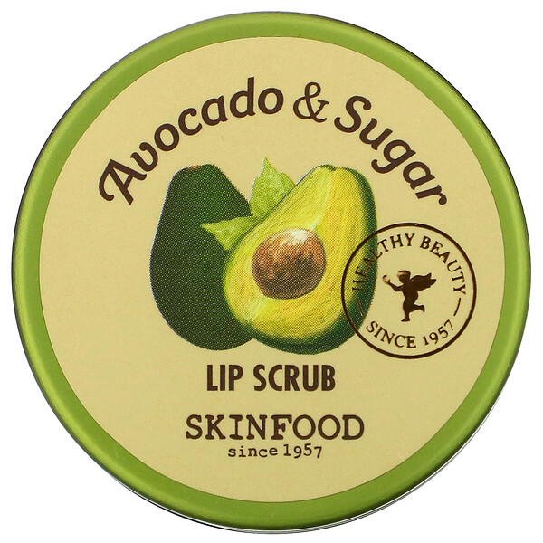 Avocado & Sugar Lip Scrub, 0.49 fl oz (14 g)