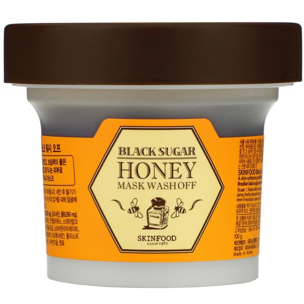 Смываемая маска с черным сахаром и медом, 3.5 унции (100 г)