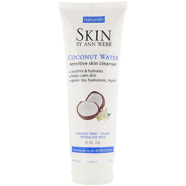 Skin By Ann Webb, Sensitive Skin Cleanser, Coconut Water, 4 fl oz (Discontinued Item)