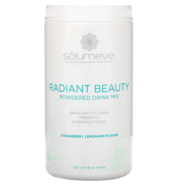 Radiant Beauty, сухая смесь для приготовления напитка с экологически чистым коллагеном, пробиотиками и суперфруктами, клубничный лимонад, 454г (16унций)