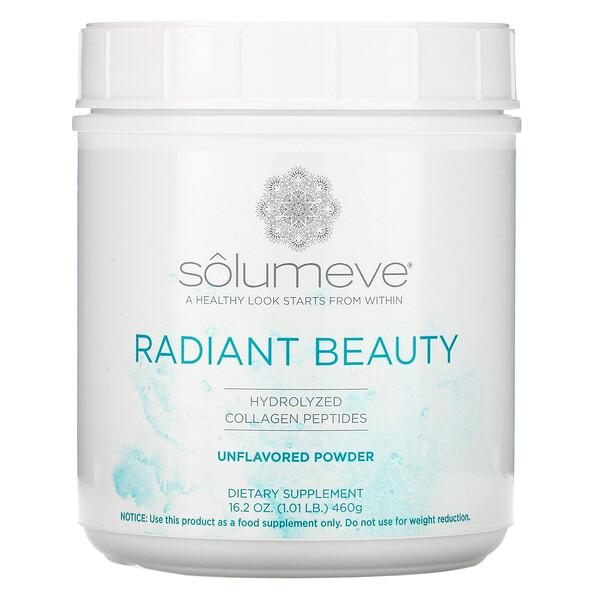 Radiant Beauty, пептиды гидролизованного коллагена, порошок с нейтральным вкусом, 460г (16унций, 1фунт)
