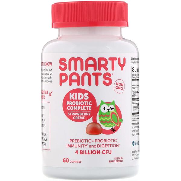 Kids Probiotic Complete, Strawberry Creme, 4 Billion CFU, 60 Gummies